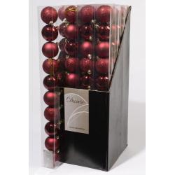 Boule 60mm brillant-mat Bordeaux ass. par 10