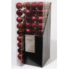 Boule 60mm brillant-mat Bordeaux ass. par 10