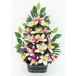 Jardinière Zinc Orchidée,...
