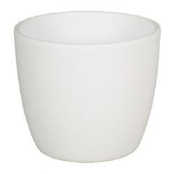 Pot d22.5 h19.5 cm Blanc par 2