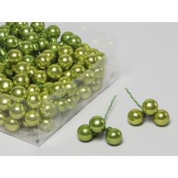 Boule Noël 20mm fil 10 cm Vert x 144