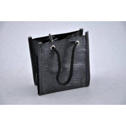 Sac plastique 13x13.5 h14 cm Lézard Noir