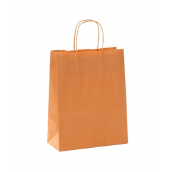 Sac Kraft Orange 100g torsadées 35x14x40 - 50 sacs