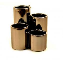 Ensemble de 4 Vases h11.5 cm Chromé