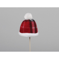 Bonnet d7 cm sur pique Rouge par 12
