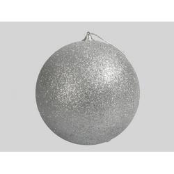 Boule Déco Paillettes d18 cm Argent
