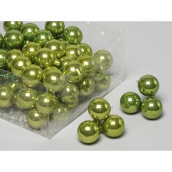 Boule Noël 30mm fil 10 cm Vert x 72