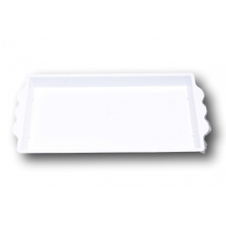 Centre de Table Rectangle PVC Blanc 230x115x25 mm