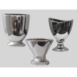 Vase h17 cm Argent - Set/3