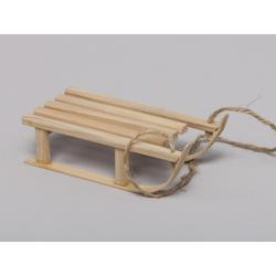 Luge bois 21x51 cm pour décor Naturel