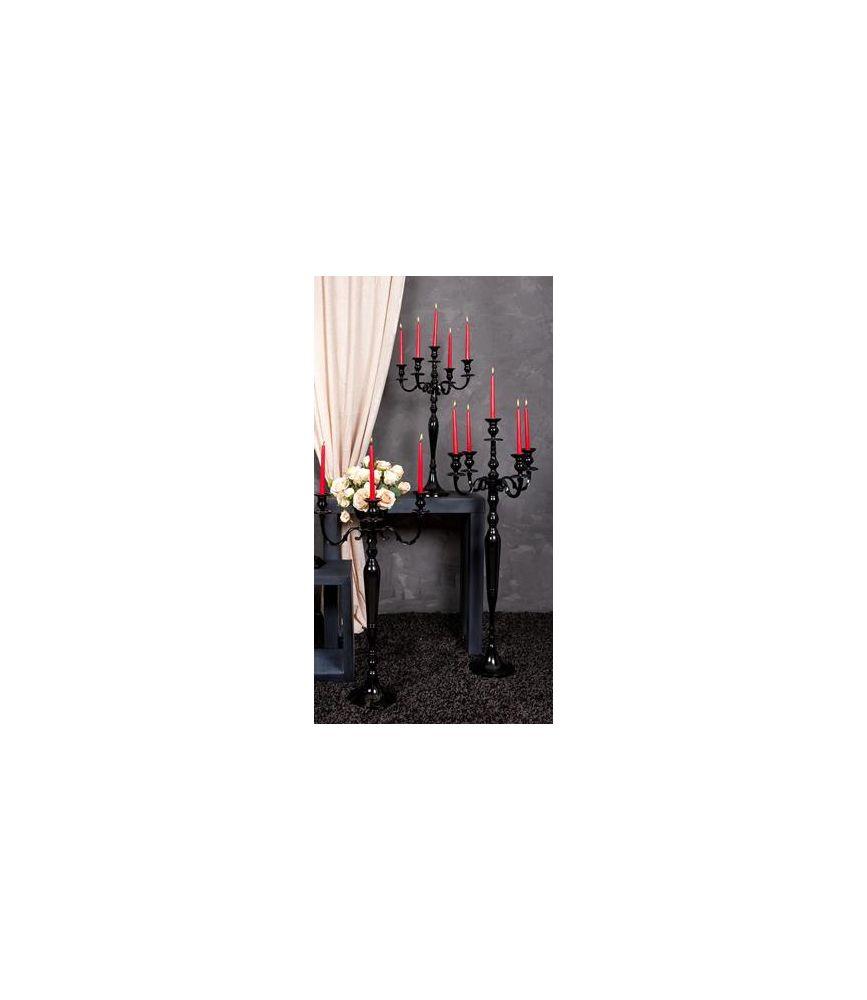 bougeoir 5 branches noir h60cm. Black Bedroom Furniture Sets. Home Design Ideas
