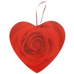 Coeur à suspendre h19 cm Rose Rouge