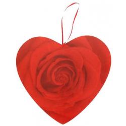 Coeur à suspendre h28 cm Rose Rouge