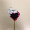 Pique Coeur Souris d5.5 cm par 24