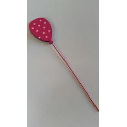 Ballon sur tige d1,7cm h9 cm Fuchsia par 6