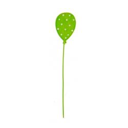 Ballon sur tige d1,7cm h9 cm Vert par 6