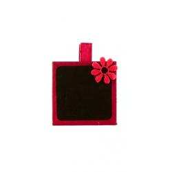 Pince Ardoise carrée Fuchsia par 4