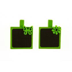 Pince Ardoise carrée Vert par 4