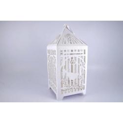 Cage Oiseaux 24x24 h54 cm Carton Blanc