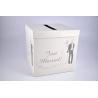Boîte Enveloppes Mariage 30x30 h30 cm Blanc