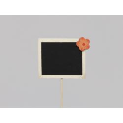 Pique Ardoise 7x6 cm décor Orange par 12