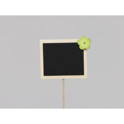 Pique Ardoise 7x6 cm décor Vert par 12