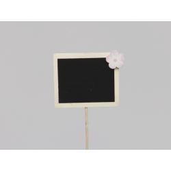 Pique Ardoise 7x6 cm décor Blanc par 12