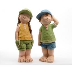 Figurine Enfant debout Garçon/Fille 21x20x51 cm