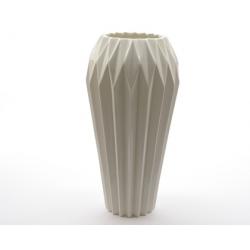 Vase porcelaine décor Blanc d15 h30 cm