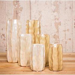 Vase d9 h21 cm Exotique