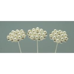Champagne Grappe - 15 cm Epingle Perle Par 6