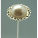 Champagne - 15 cm Epingle Perle Simple Par 6