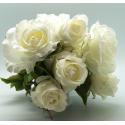 Bouquet Rose 10 tiges Crème