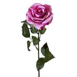 CILY - Rose ouverte artificielle H64 cm Fuchsia