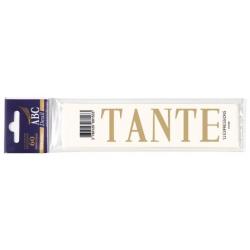 Lettre Deuil TANTE Pochette