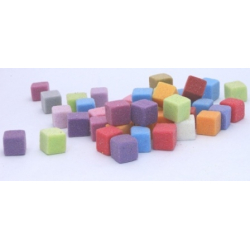 MINI CUBES - Mousse Rainbow Arlequin, 2cm, par 300