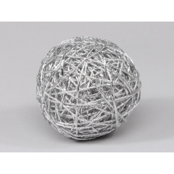 Boule de Papier Métallique d6 cm Argent
