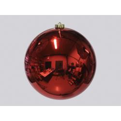 Boule de Noël plastique d25 cm Rouge