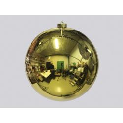 Boule de Noël plastique d18 cm Or