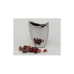 Vase 21x11.5 h25.5 cm Argent