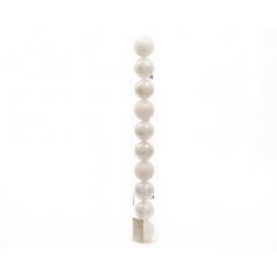 Boule 60mm brillant-mat Blanc ass. par 10