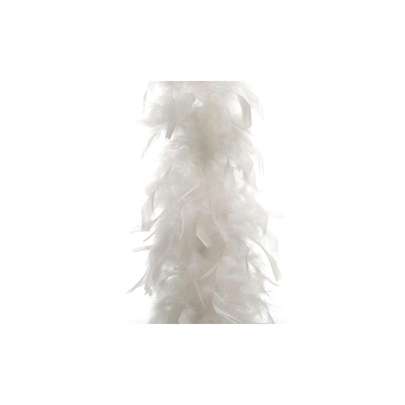 Guirlande de plumes 184 cm Blanc