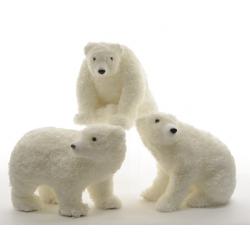 Ours Polaire en mousse h33 cm Blanc
