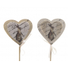 Pique Cœur décor Lapin Tissu par 12