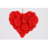 Coeur Mousse Flocké Rouge d20 cm