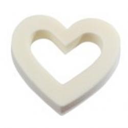 Coeur Ouvert Ivoire 18 cm x2