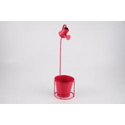 Cache-pot d13,5 h47 cm avec Arrosoir Fuchsia