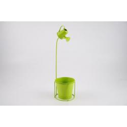 Cache-pot d13,5 h47 cm avec Arrosoir Vert