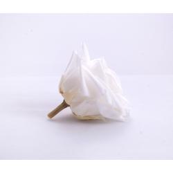 Tête Rose Stabilisée Premium Blanc par 4