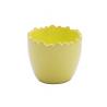Cache-pot céramique Oeuf d12 h10.5 cm Vert